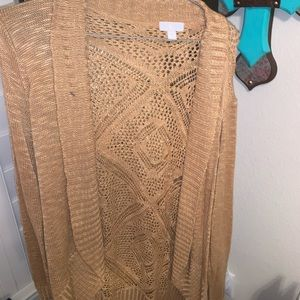 Tan long sleeve cardigan